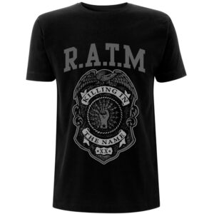 Rage Against The Machine T-shirt - Grey Police Badge